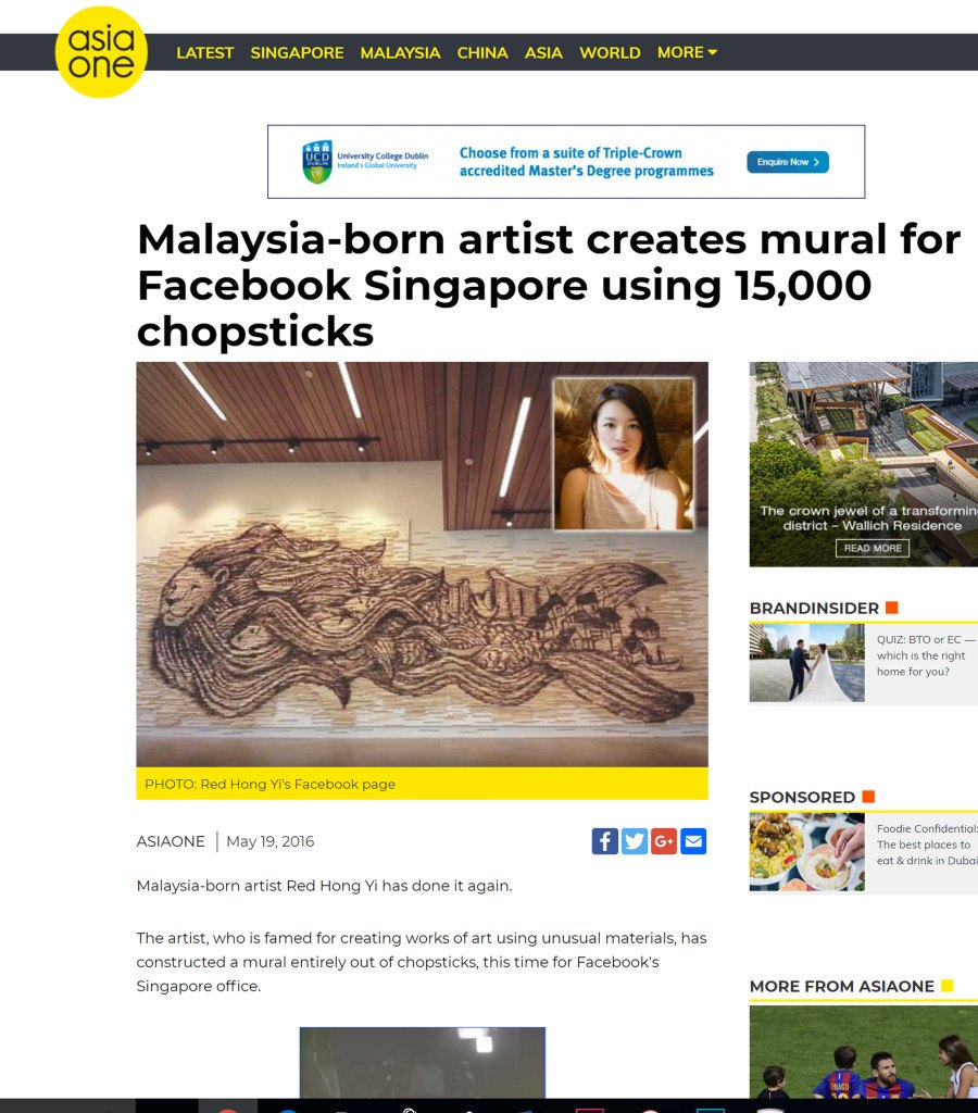 Post on 11th November - Asia One - November 2016