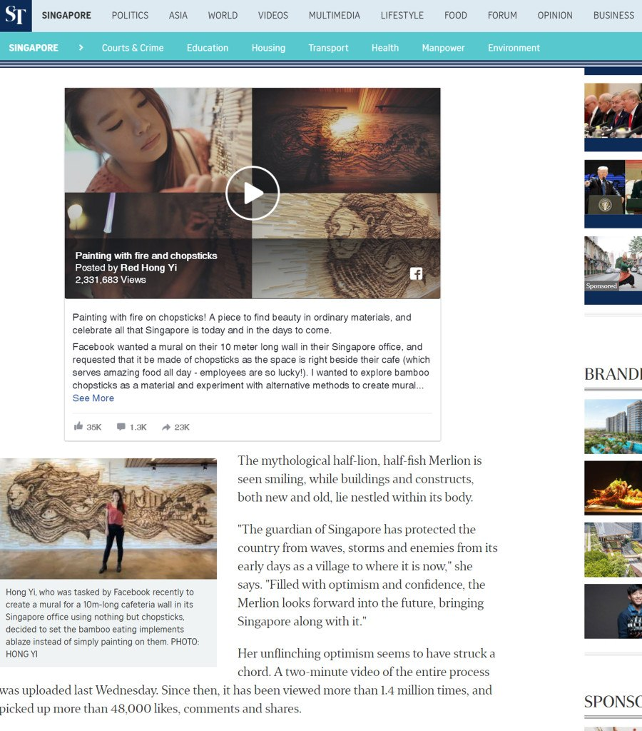 Post on 11th November - The Straits Times - November 2016