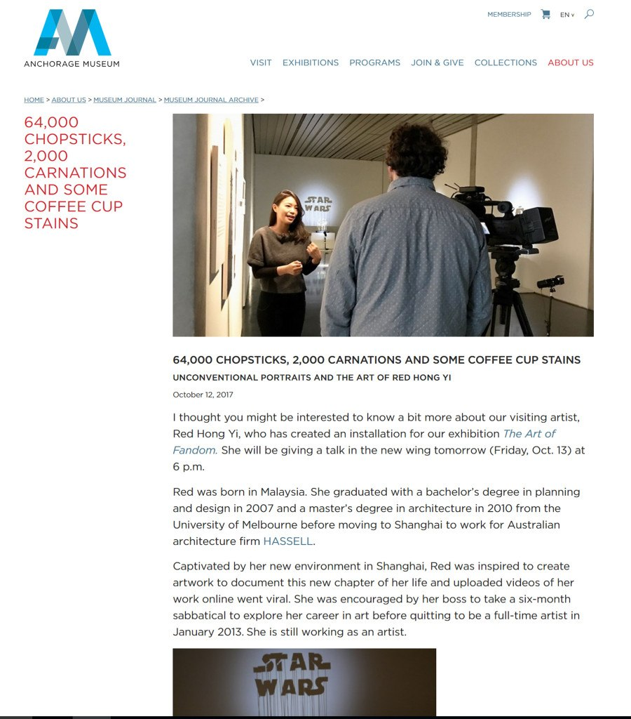 Post on 11th November - Anchorage Museum Journal Archive - November 2017