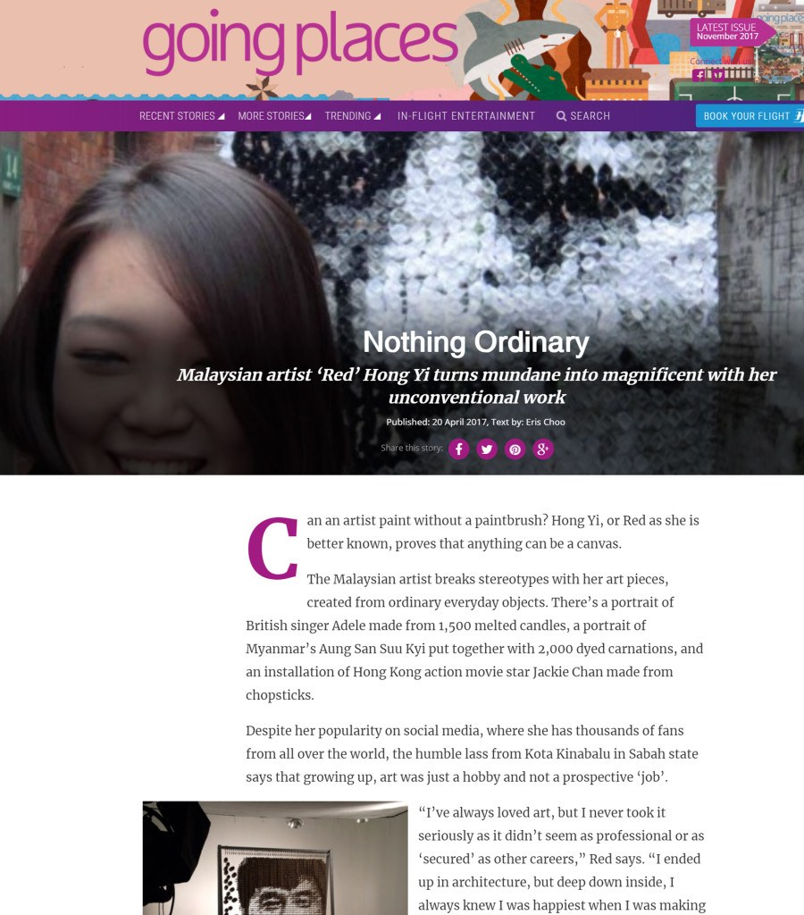 Post on 11th September - Going Places (Malaysia Airlines) - September 2017