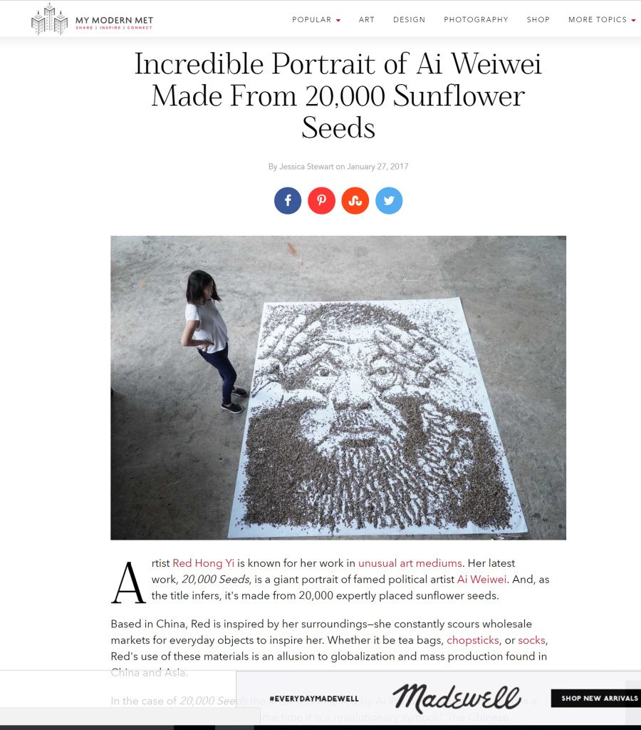 Post on 11th January - My Modern Met - January 2017